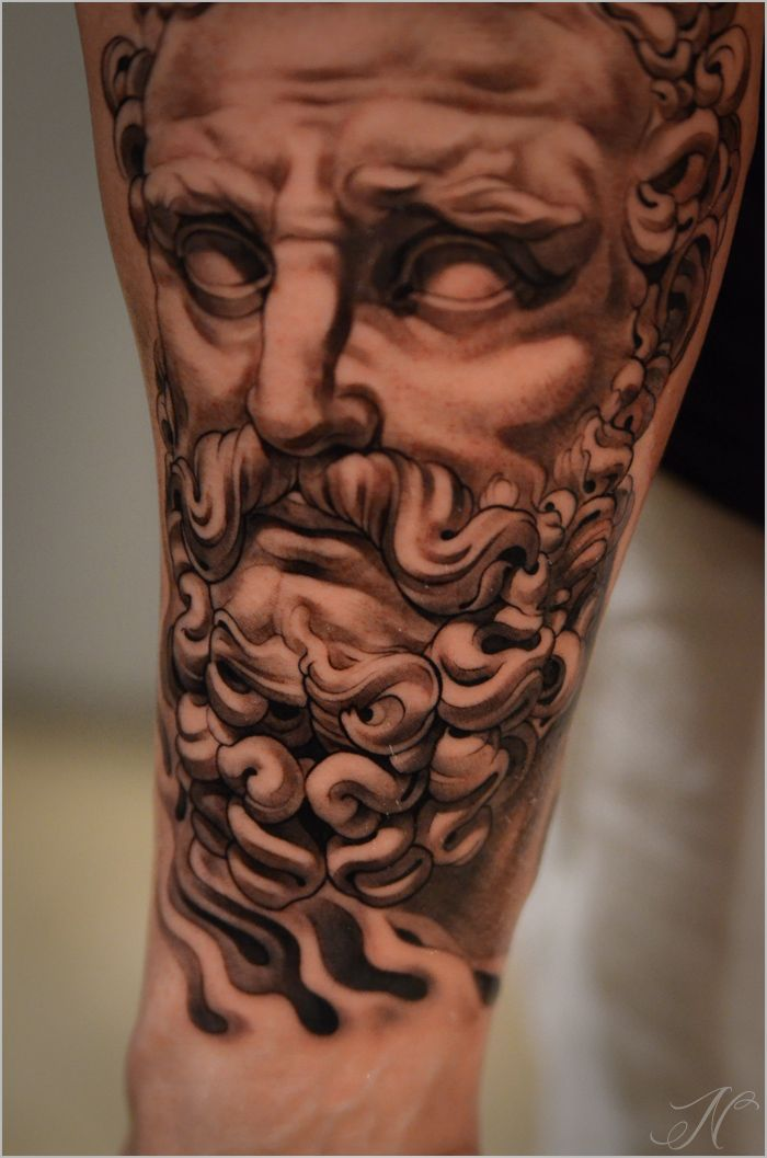 Greek God Eyes And Curls Tattoo Ideas Pinterest Tatouage Bras