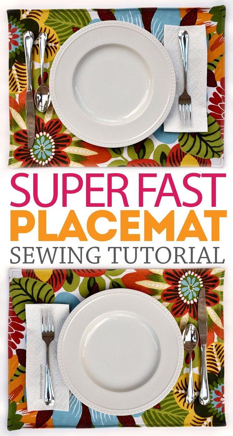 Super Fast Placemat Tutorial   Faden, Nadel und Nähen