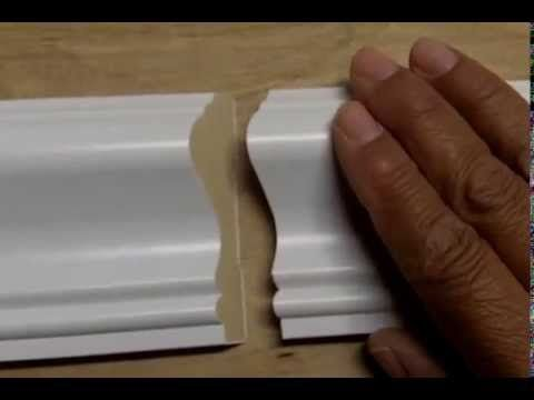 How To Attach 2 Pieces Of Baseboard Or Chair Rail With A Scarf Joint Chair Rail Baseboards Moldings And Trim