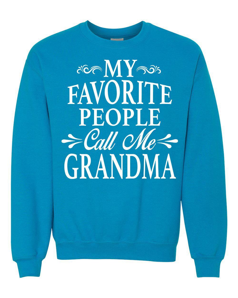 My Favorite People Call Me Nanny - Unisex Crewneck Sweatshirt - Nanny Gift DbgTSv