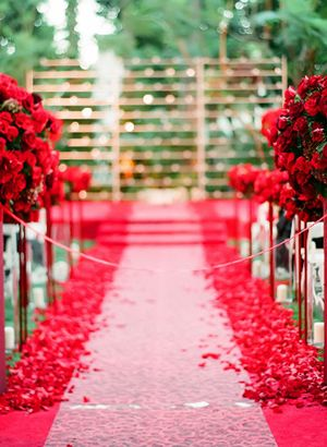 red ceremony aisle