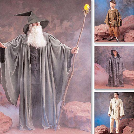 JEDI STAR WARS Costume Sewing Pattern - Wizard Witch Halloween ...