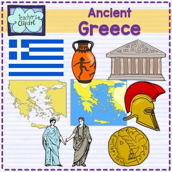 Ancient Greece map and art clipart | Ancient greece map, Clip art ...