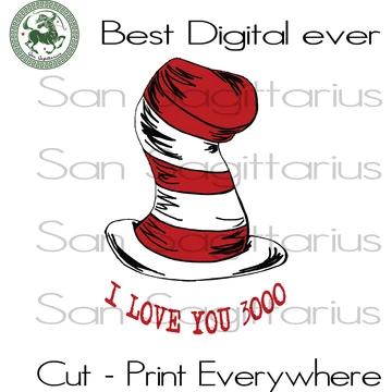Download I Love You 3000, Dr Seuss Hat Svg, Dr Seuss Gift, Dr Seuss ...