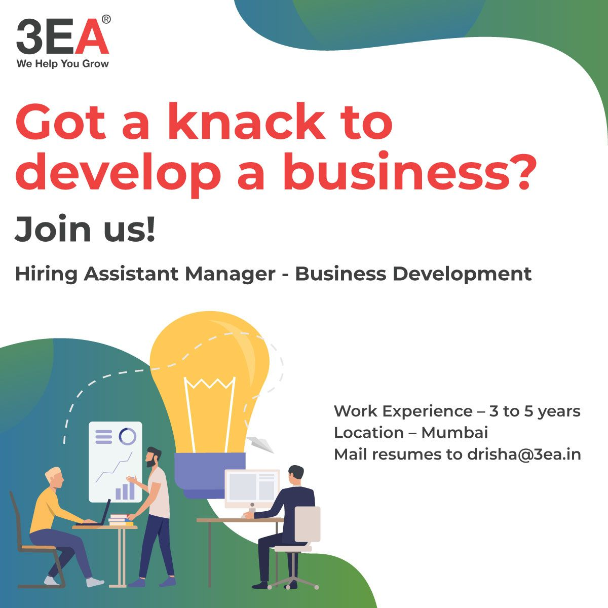 We are looking for an Assistant Manager Business