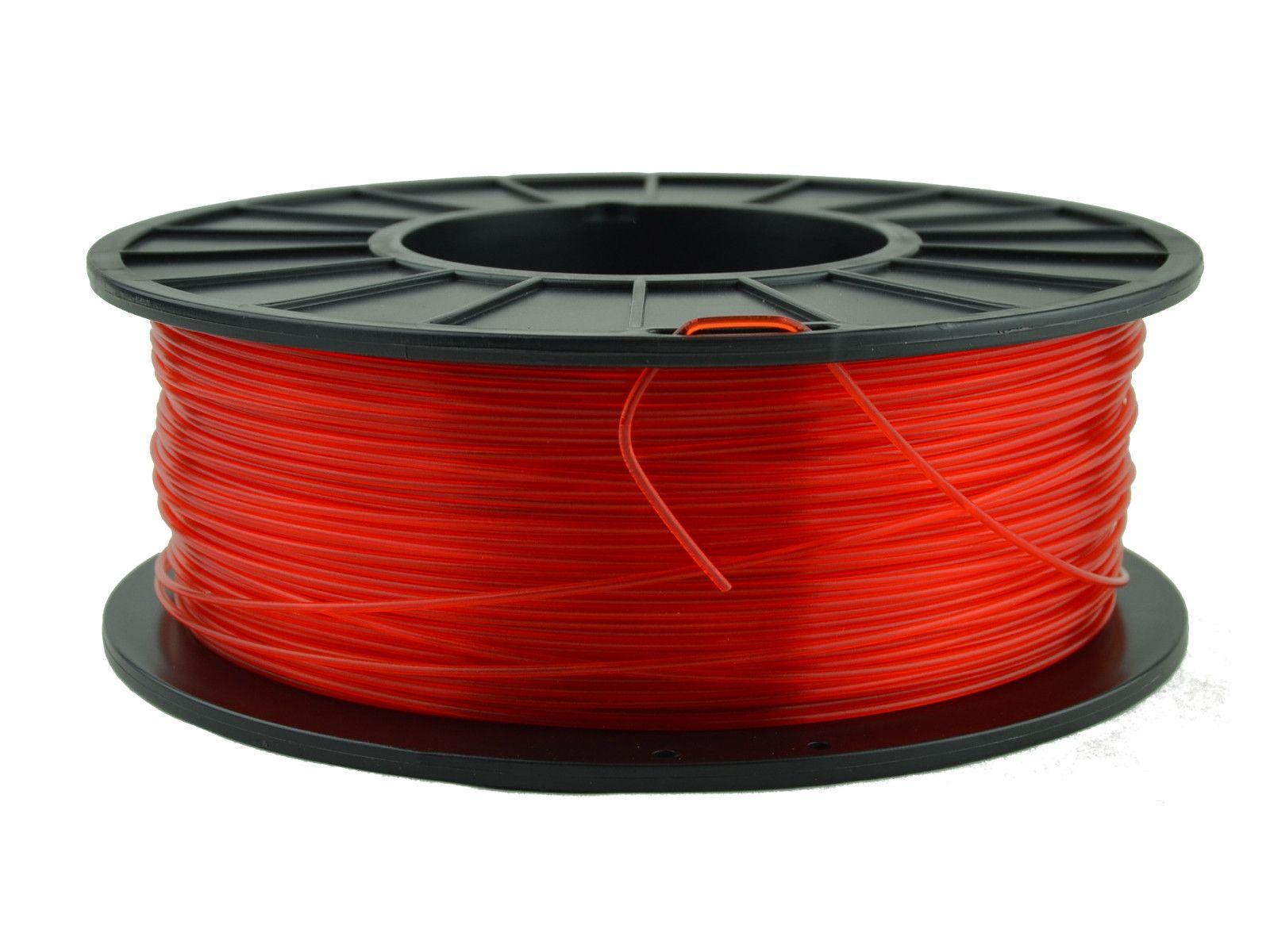 1.75 mm Translucent Red PLA 3D Printer Filament 3d