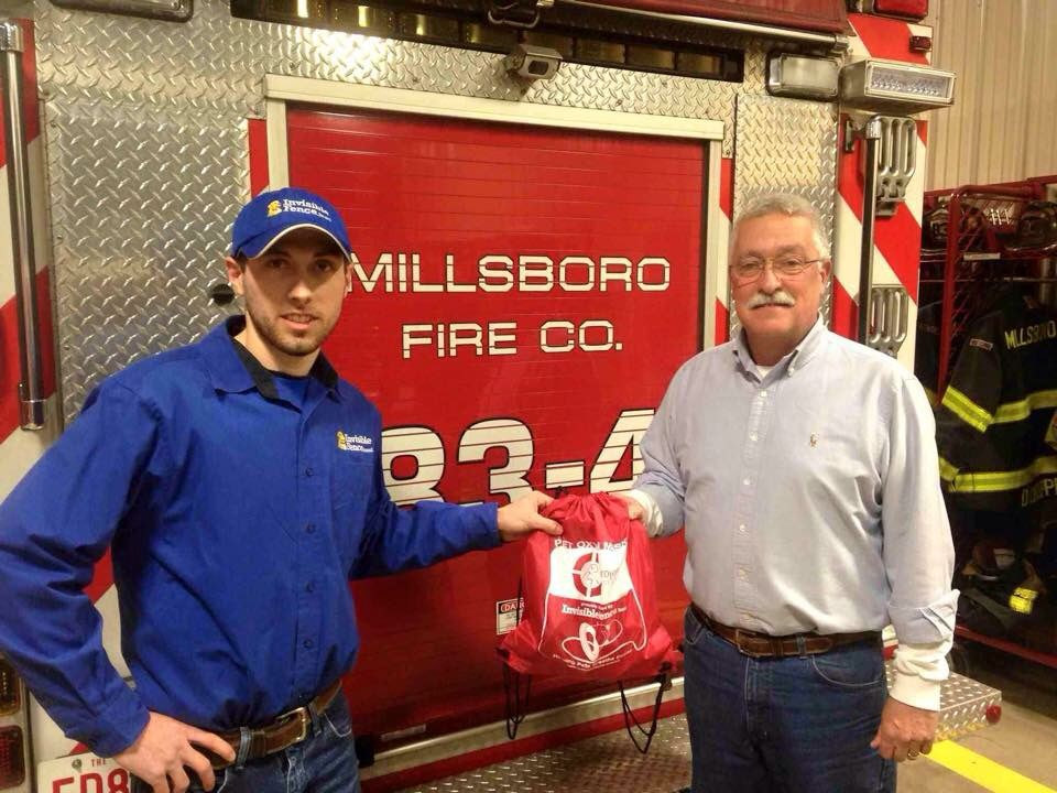 Pet Oxygen Mask Donation to the Millsboro DE Fire Co.