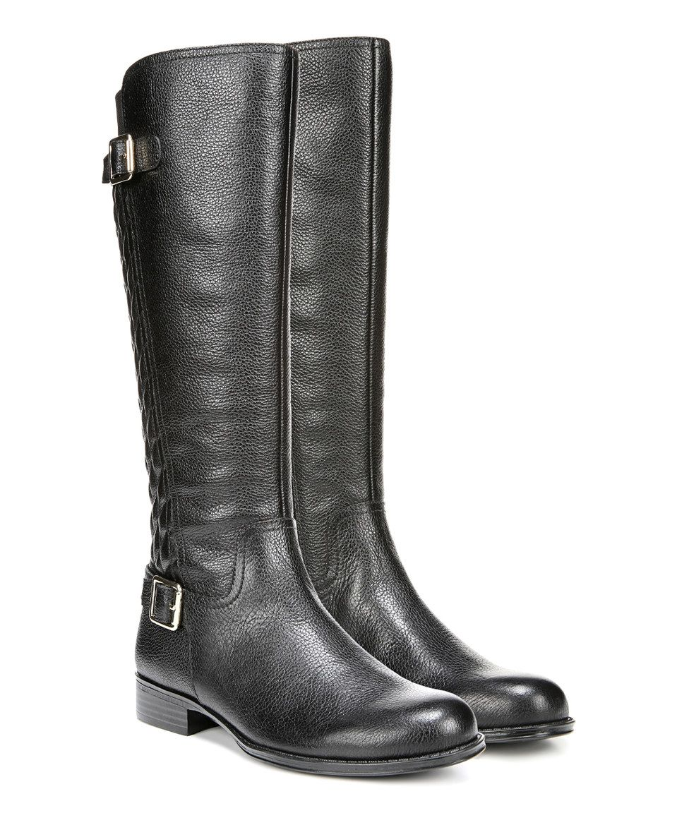 Naturalizer Black Jalyn Wide-Calf Leather Boot by Naturalizer