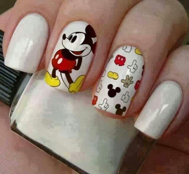 Mickey Mouse   uñas   Pinterest   Uña decoradas y Decoración