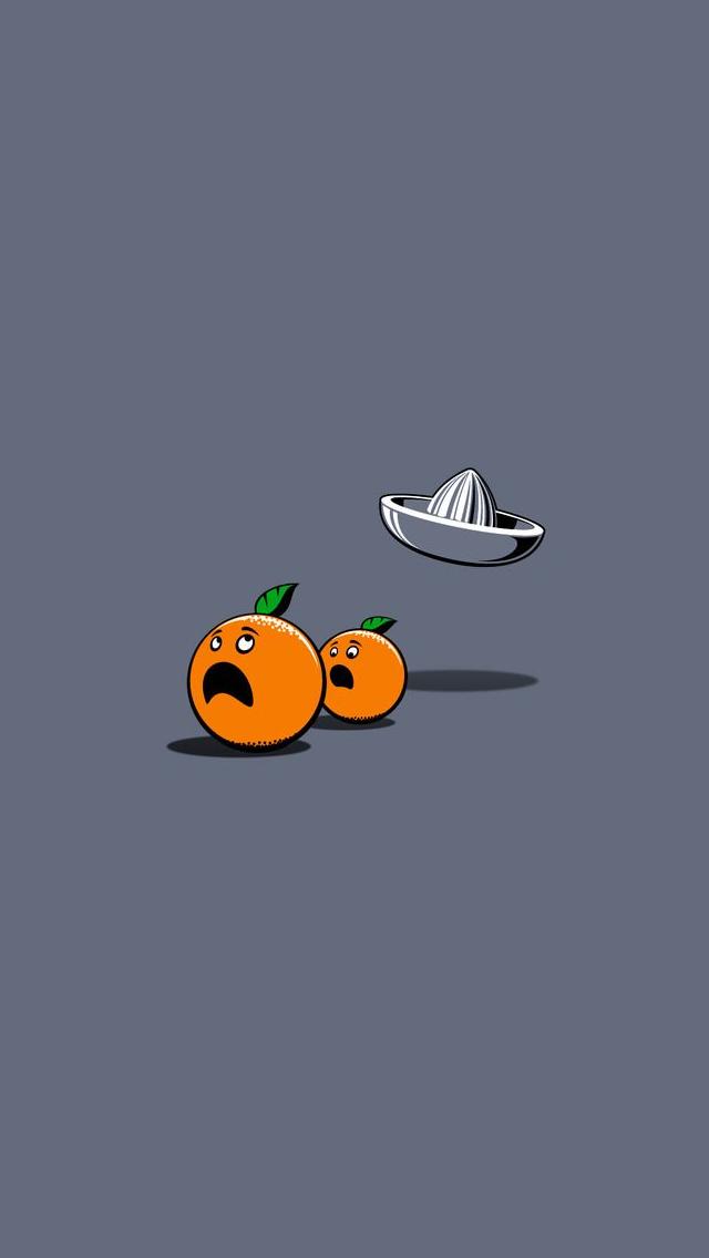Orange cute funny iPhone wallpaper mobile9 iPhone 7