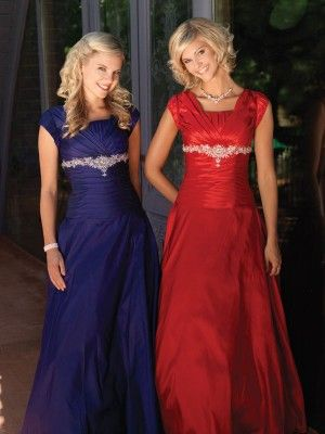 Beautiful and MODEST prom dresses!