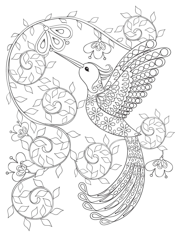Terapia Da Cor Nº4 Floresta Encantada Para Colorir Desenhos