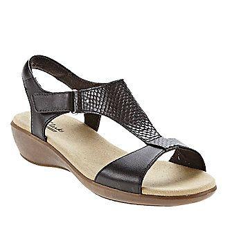 dd91212d6cf9 Clarks Roza Pine T-Strap Sandals (FootSmart.com)
