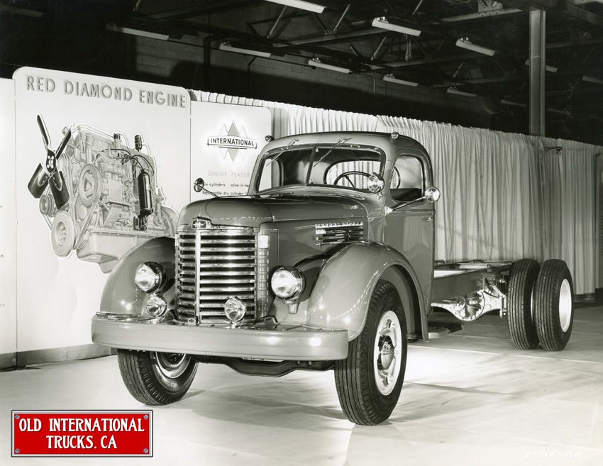 1947 ~ Old International Trucks ~ Modelo: KB-10. Cab & chassis with a Red Diamond Engine.