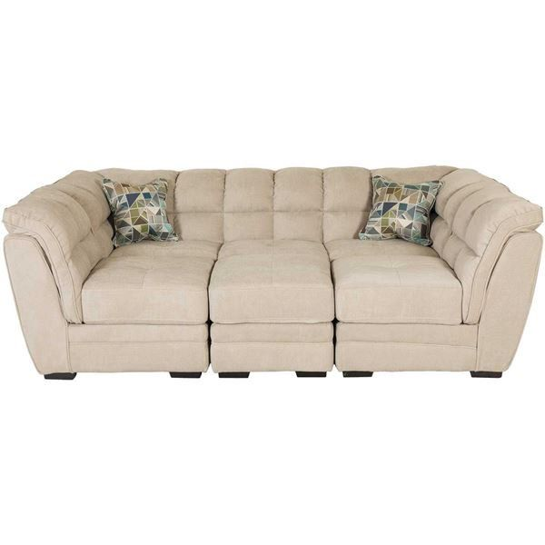 Clio Burlap 4 Piece Pit Sectional By Vogue Furniture Direct Is Now