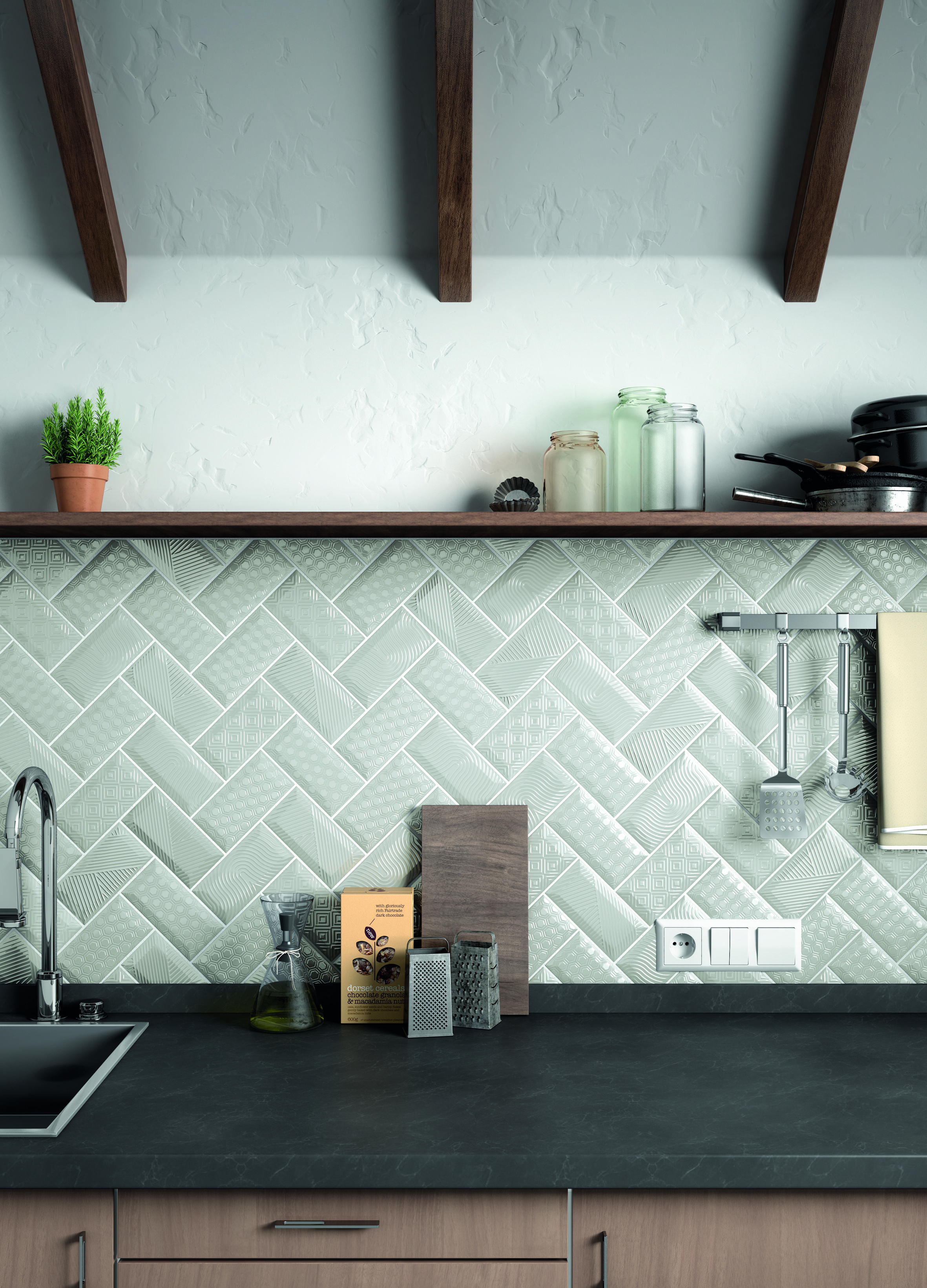 Los Palmos By Svk Interior Design In 2020 Kitchen Wall Tiles