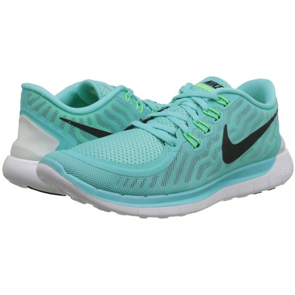 Nike Free 5.0 Women's Running Shoes, Green ($80) ❤ liked on Polyvore  featuring