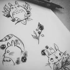 Small Totoro Tattoo Google Search Tatuaje Ghibli Totoro Dibujo Tatuajes De Animes