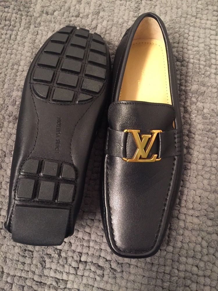 Black Louis Vuitton shoes loafers - size 9 #fashion