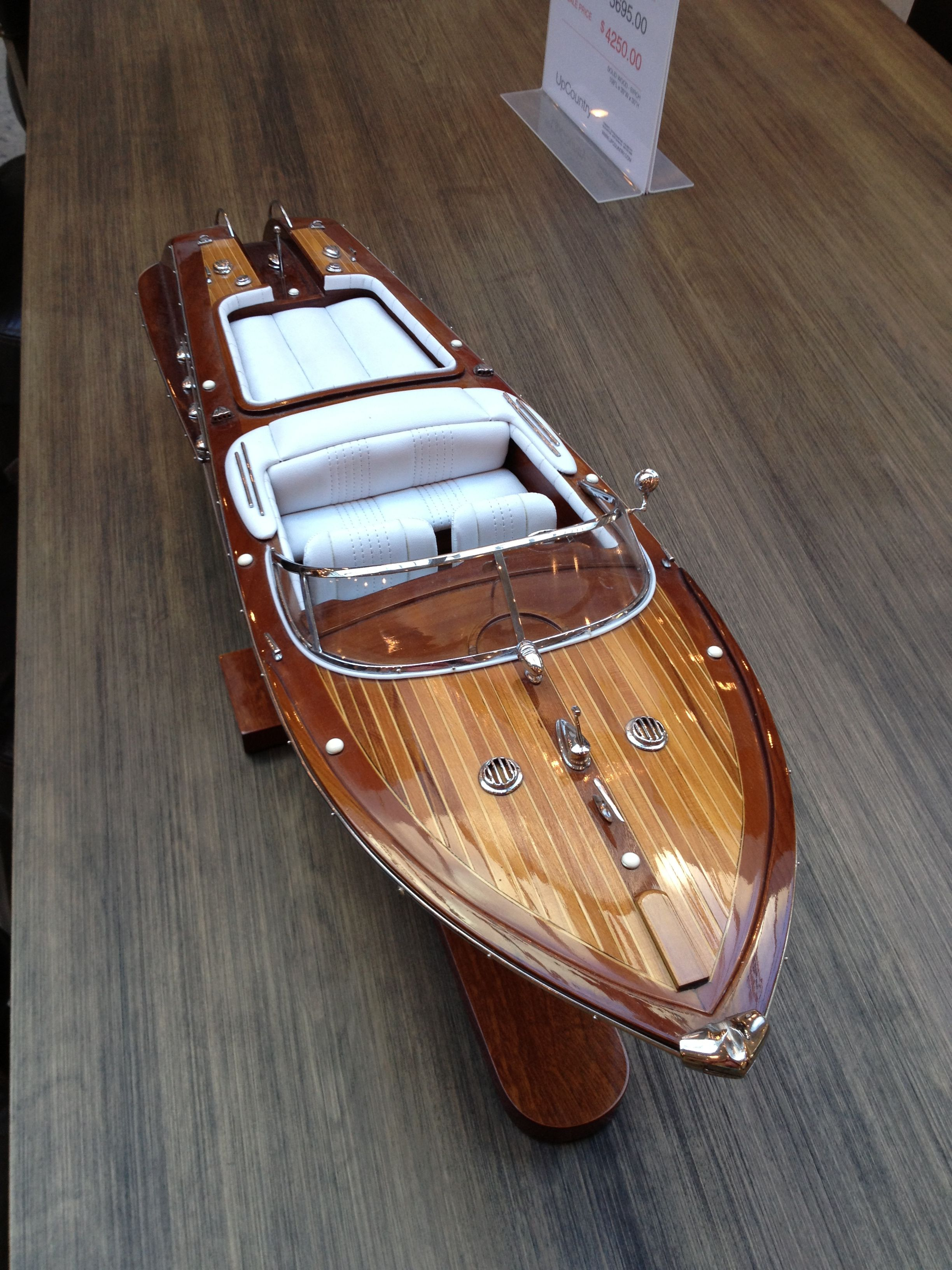 #Vintage #Speedboat Model | Boat building, Wooden model ...