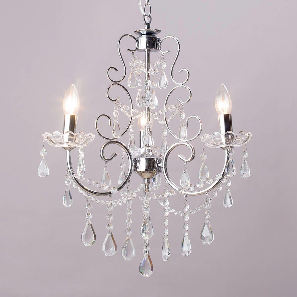 Chandelier madonna 3 light dual mount chrome pinterest ceiling chrome vintage shabby chic style ceiling pendant light shade chandelier aloadofball Gallery