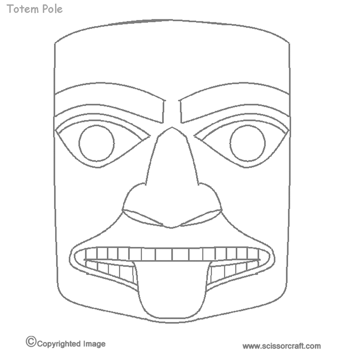 Image Result For Printable Totem Pole Faces