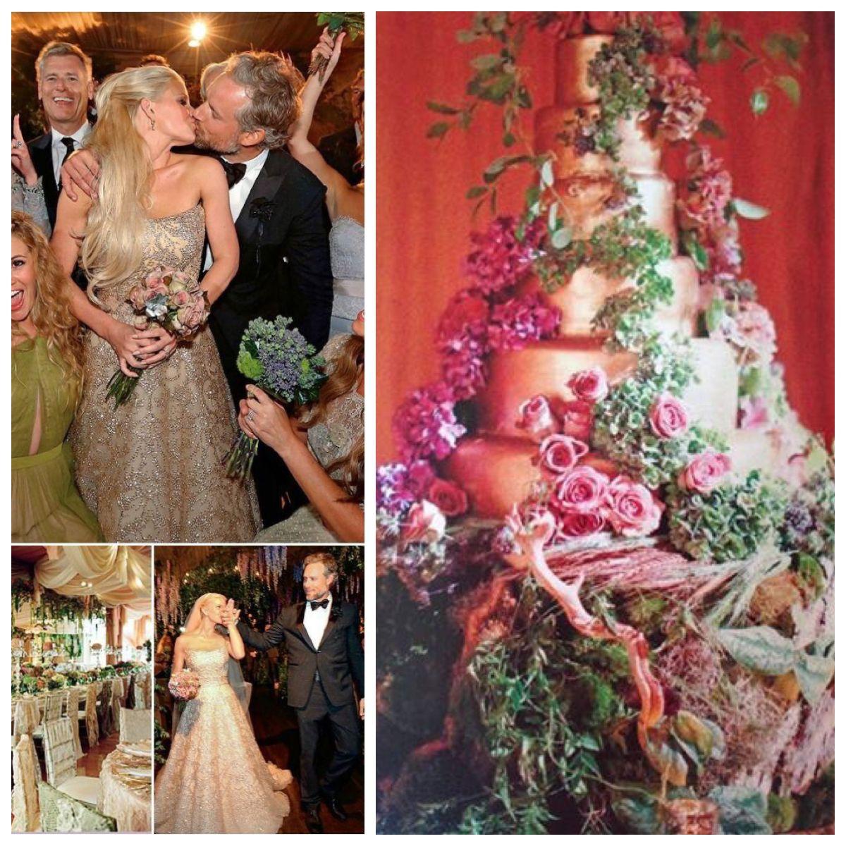 Jessica Simpson And Eric Johnson Wedding Cake Jessica Simpson Wedding Celebrity Wedding Dresses Celebrity Bride