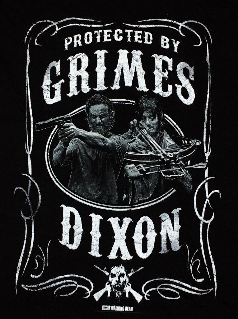 """The Walking Dead T-Shirt """"Grimes Dixon"""" 100 % Cotton S to 3XL Men's sizes"""