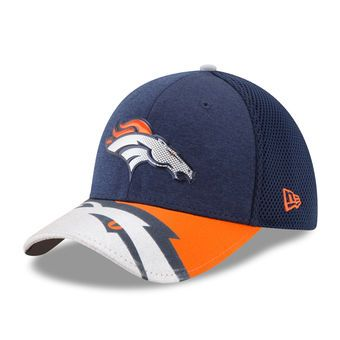 Denver Broncos New Era 2017 NFL Draft On Stage 39THIRTY Flex Hat - Navy 3dda30b9399a