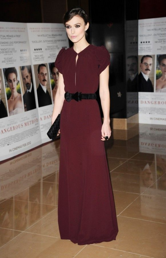 Keira Knightley wearing Burberry Prorsum to the premiere of A Dangerous Method in London