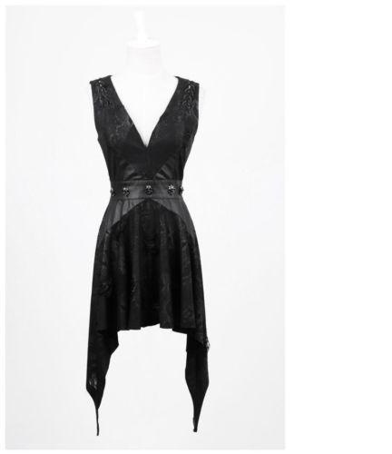 NEW Punk Rave Rock Gothic Black Reptile Sexy Short Dress ...