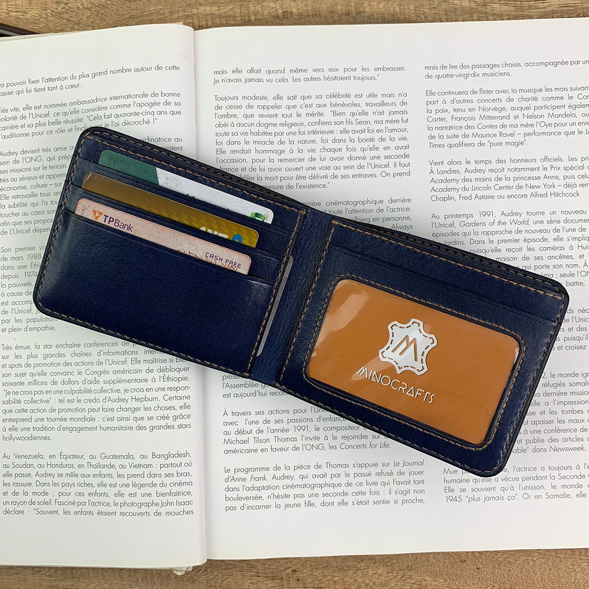 Leather Wallet Classic Wallet Gifts For Her Blue Leather Wallet Minimal Leather Wallet Leather Wallet