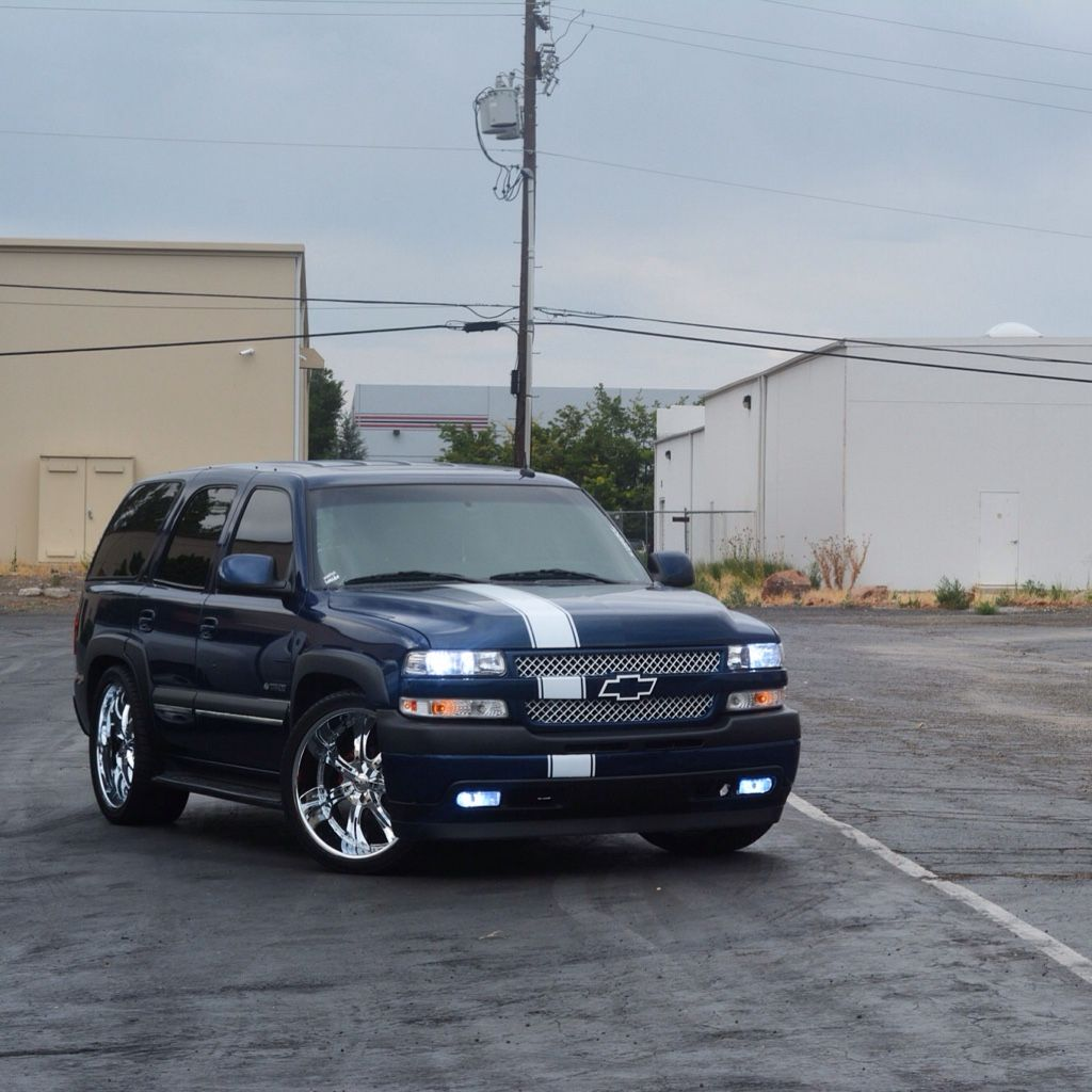 Hd Conversion On My Tahoe Is Complete Chevy Tahoe Lifted Chevy