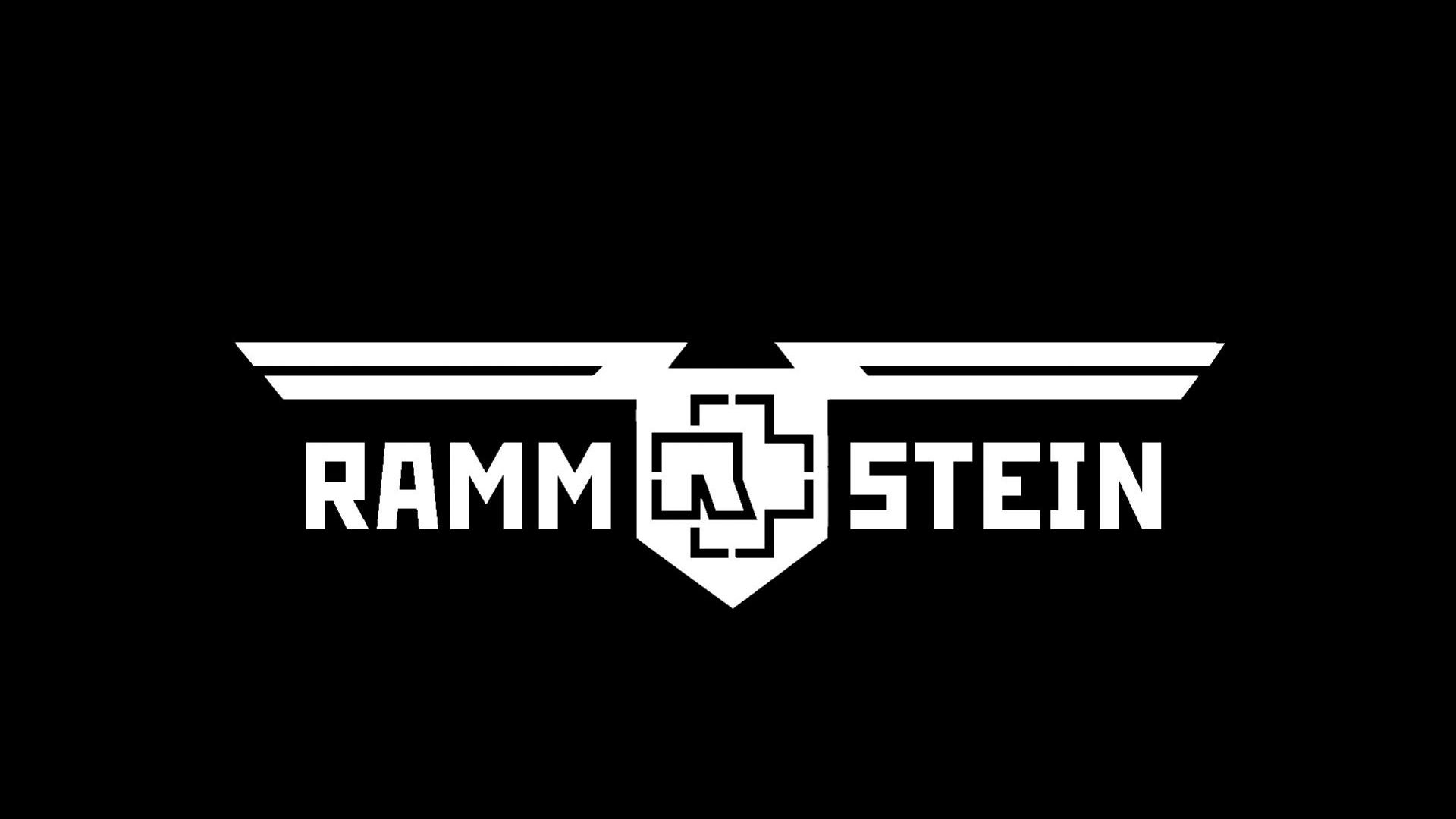 Download Wallpaper 1920x1080 Rammstein Sign Letters Font Background Full Hd 1080p Hd Background Rammstein Logos Band Logos