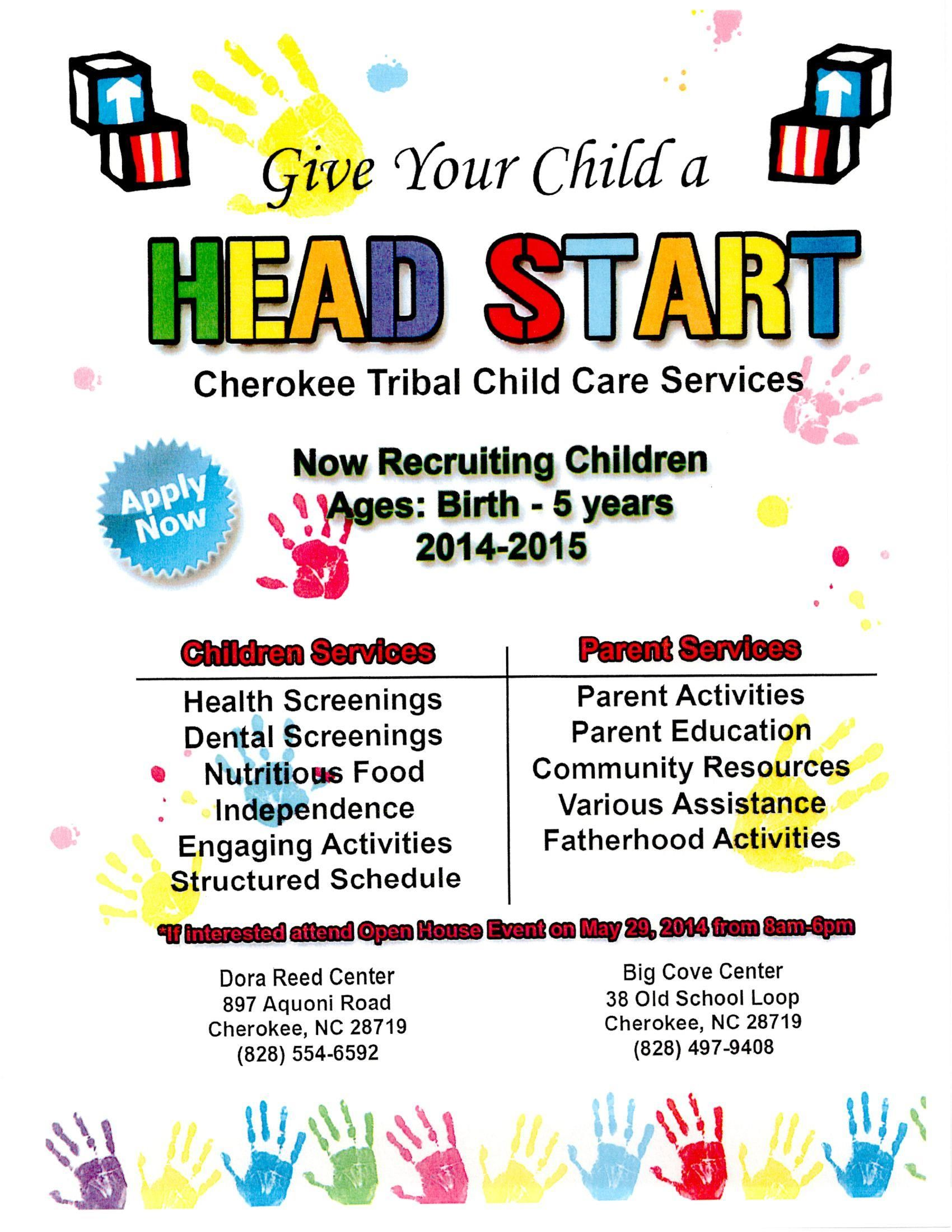 Head Start Recruitment Flyer Head Start Recruitment Parent Activity