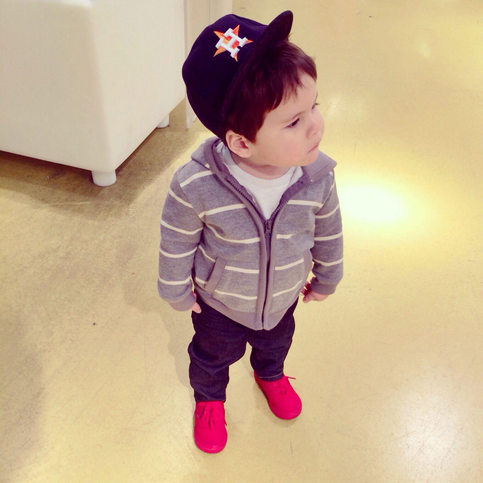 Casual Toddler Boy Outfit. Plain White #Polo Cotton Tee. Skinny ...