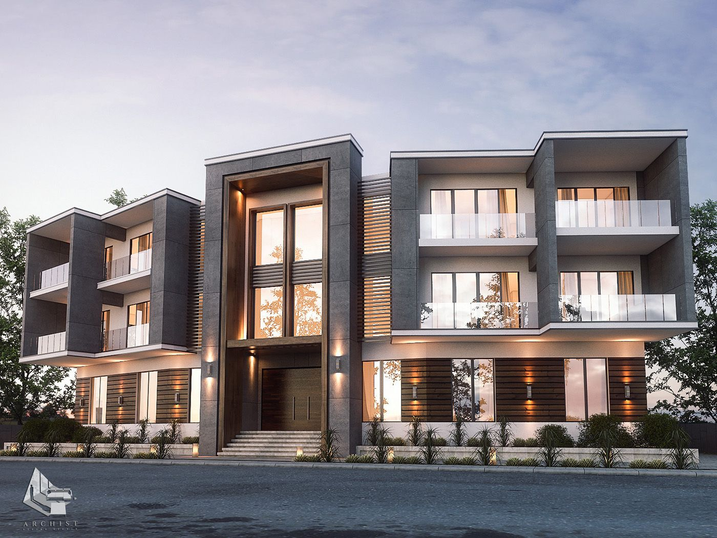 Live Luxury Life Stand Alone Building Exterior Design In