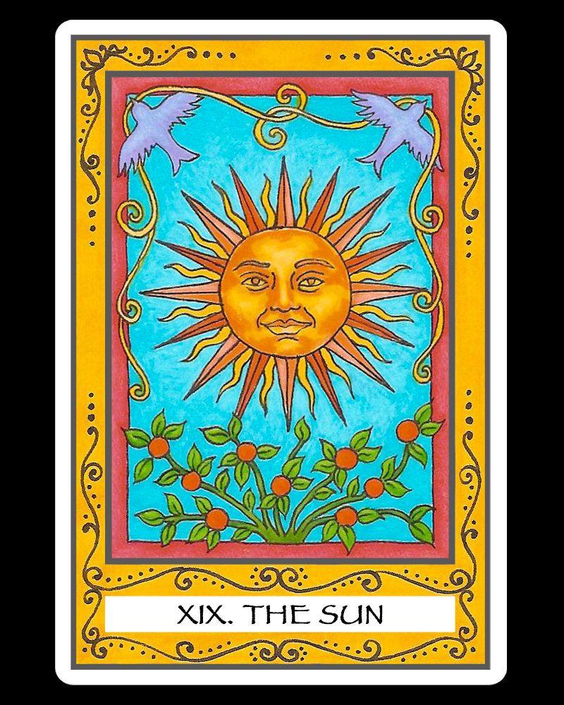 Pin by cathy smith on the sun the sun tarot card the