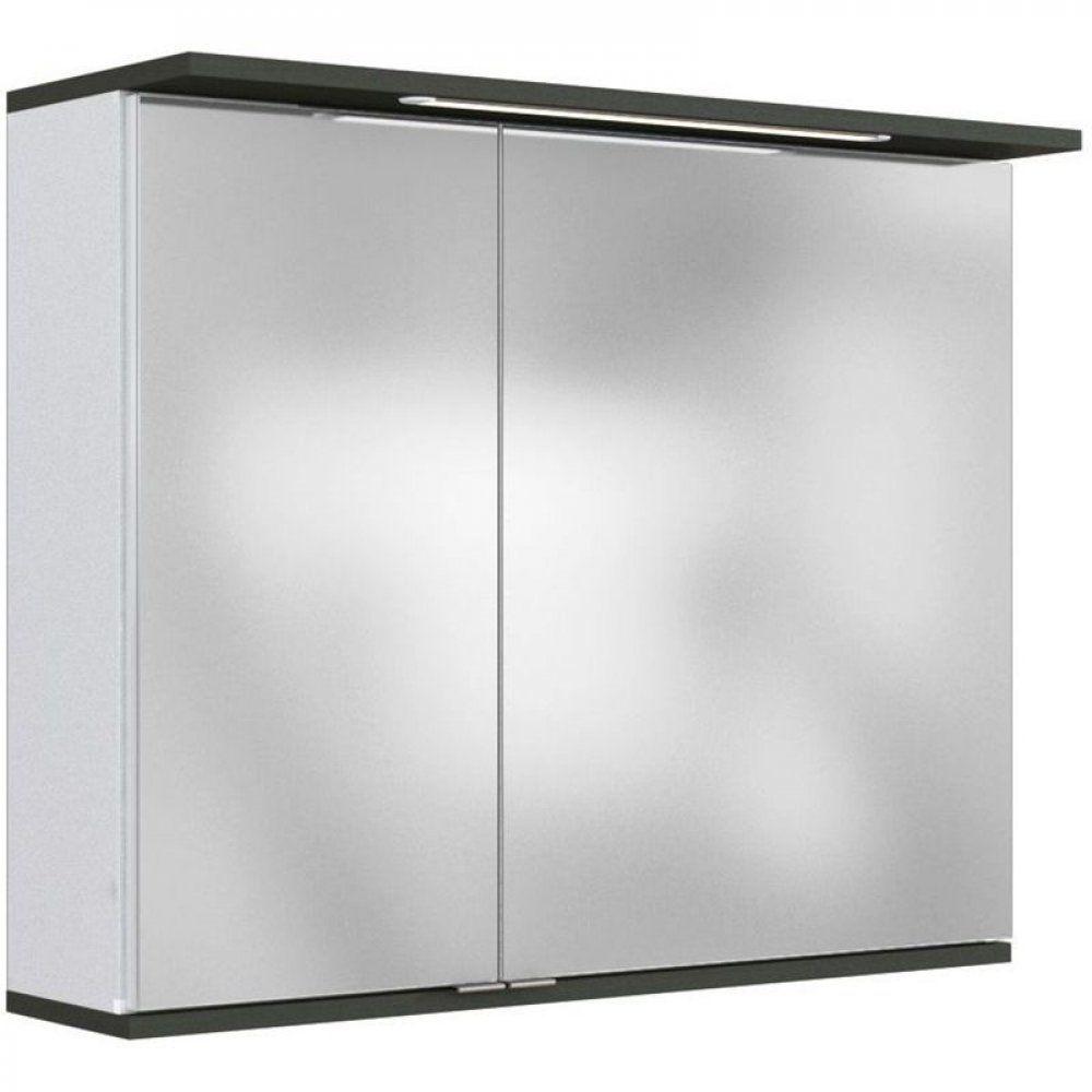Badmöbel Spiegelschrank 80cm LATHI-03 mit LED und ...