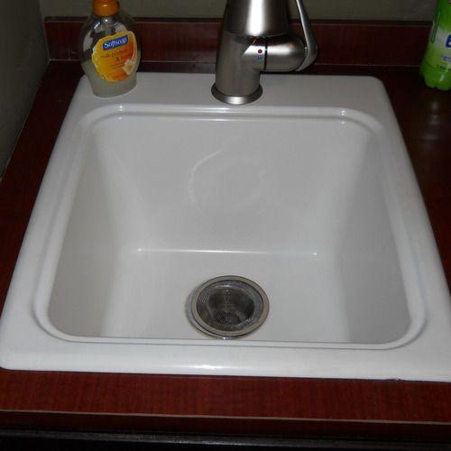 Swan Dit S 010 Veritek 17 1 4 Inch By 20 Inch Drop In Laundry Tub