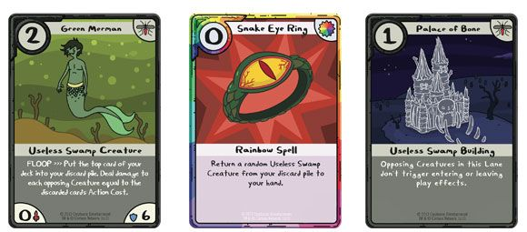 Adventure Time Card Wars Swamp-cards Game Card Designs - time card