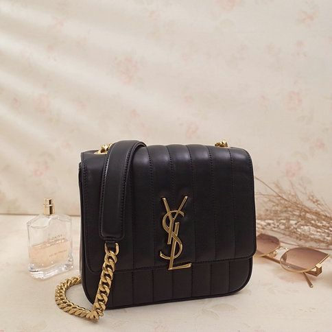 b2c9a2b1d 2018 S/S Saint Laurent Small Vicky Bag in Black Leather | YSL Bags ...