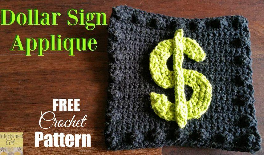 Crochet Dollar Sign Square ~ \'Like a Boss\' Blanket Series