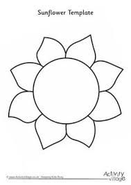 image result for sunflower templates free download crafts