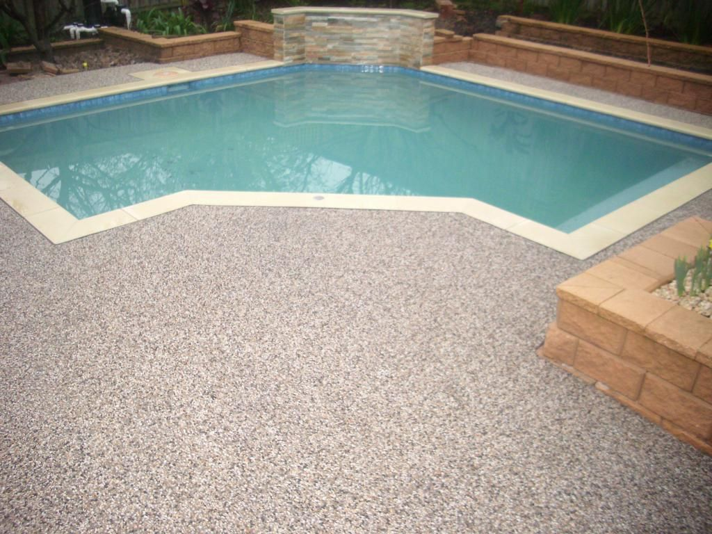 Sealing exposed aggregate pool deck - Exposed Aggregate