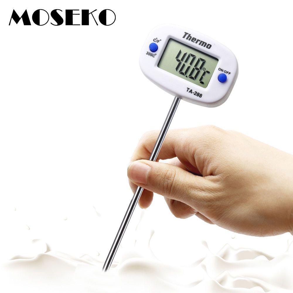 Digitales Thermometer mit LCD-Display für BBQ Fleisch Milch Küchenthermometer