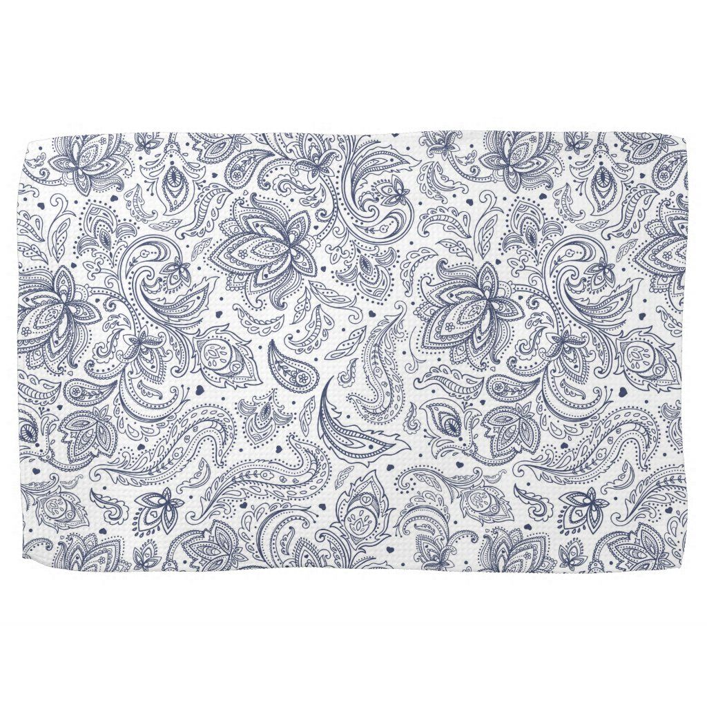 Photo of Cute classical flowers patterns Kitchen Towel