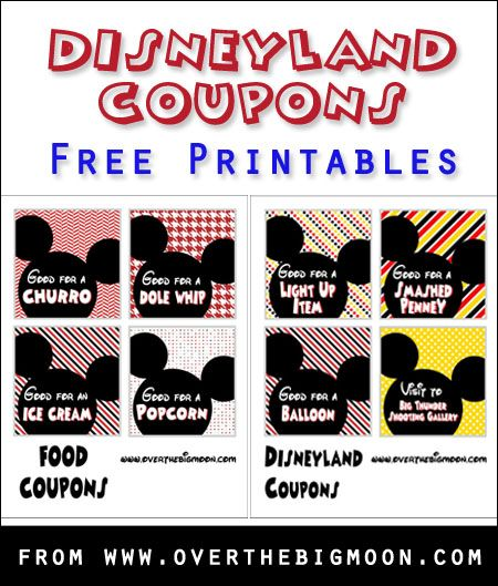 disneyland coupons for kids free printable coupons to help control the expectations of your littles when on vacation from wwwoverthebigmooncom