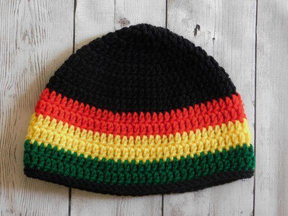 5adff11d292 Rasta beanie - Jamaican beanie - rastafari - rastafarian hat - reggae beanie  - Rastafarian beanie unisex