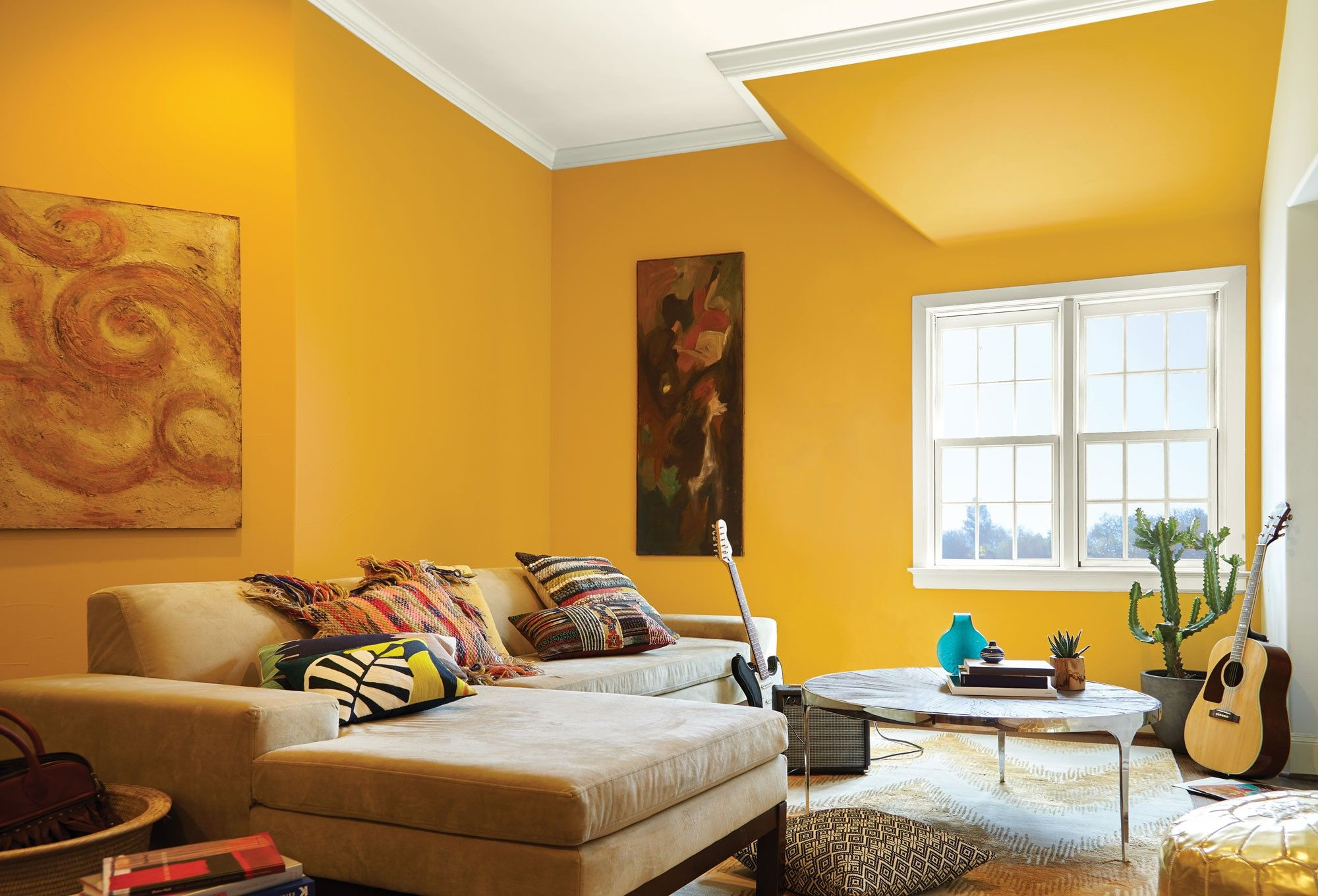 Best Yellow Paint Colors For Bedroom In Yellow Accent Walls